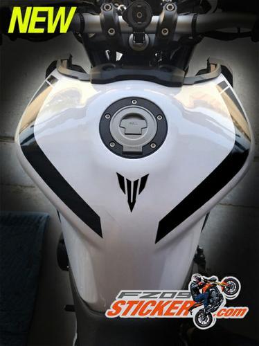 Yamaha FZ-09 MT-09 curve fuel tank stripes kit (61)