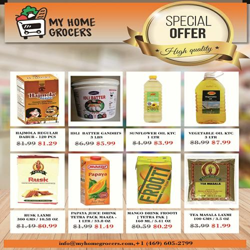 Indian Grocery Dallas Online With Same Day Door Delivery. Indian food items such as Rice, Dals, Spic