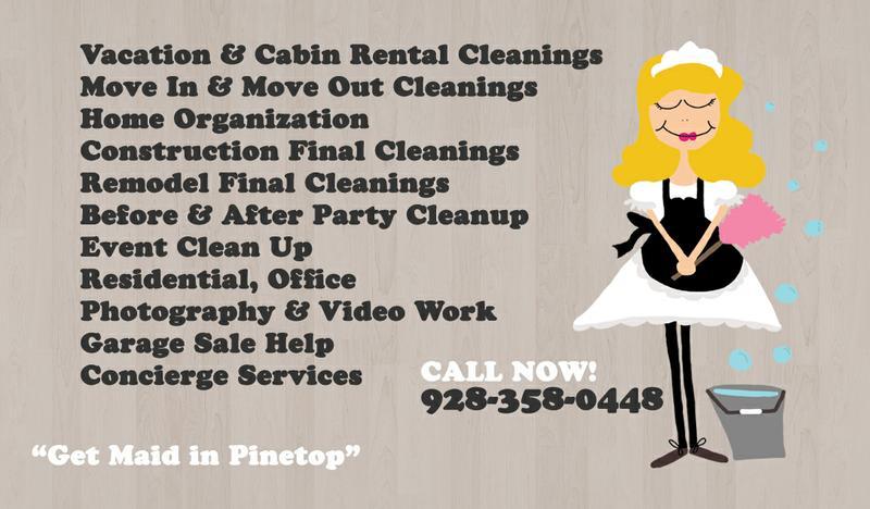 House Cleaning, Pinetop, Lakeside AZ