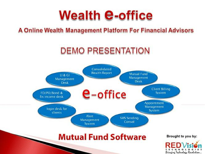 Wealth e office mobile Application accessed through