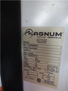 2008 MAGNUM MLT3060MMH LIGHT TOWER