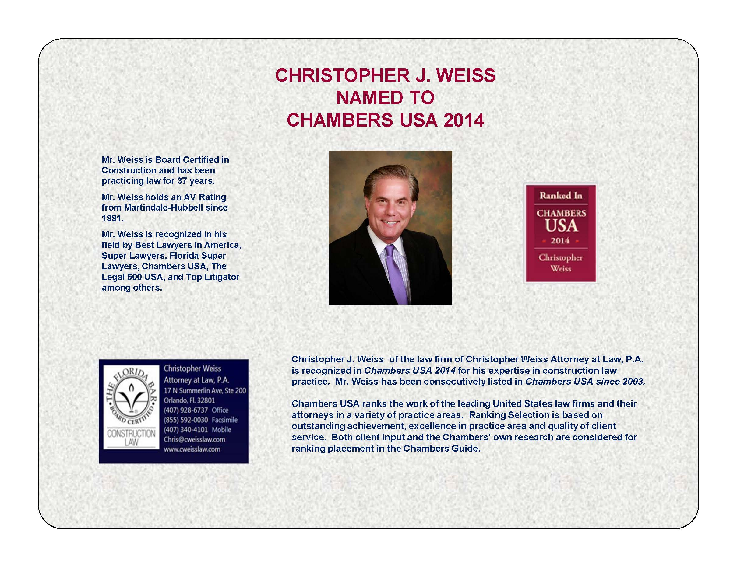 Christopher Weiss Attorney at Law P. A.
