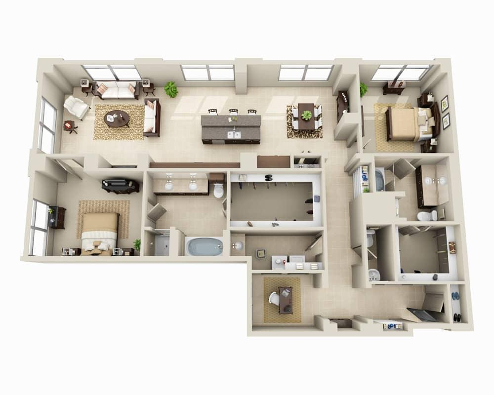 $4113 Two bedroom Apartment for rent