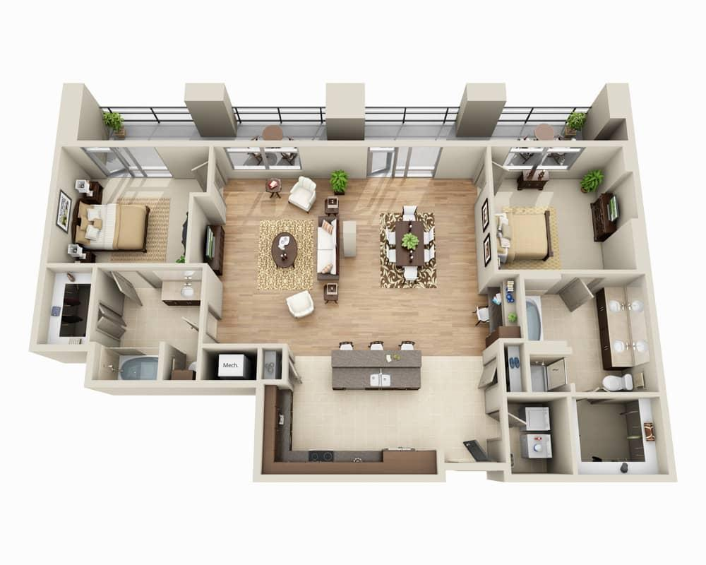 $3273 Two bedroom Apartment for rent