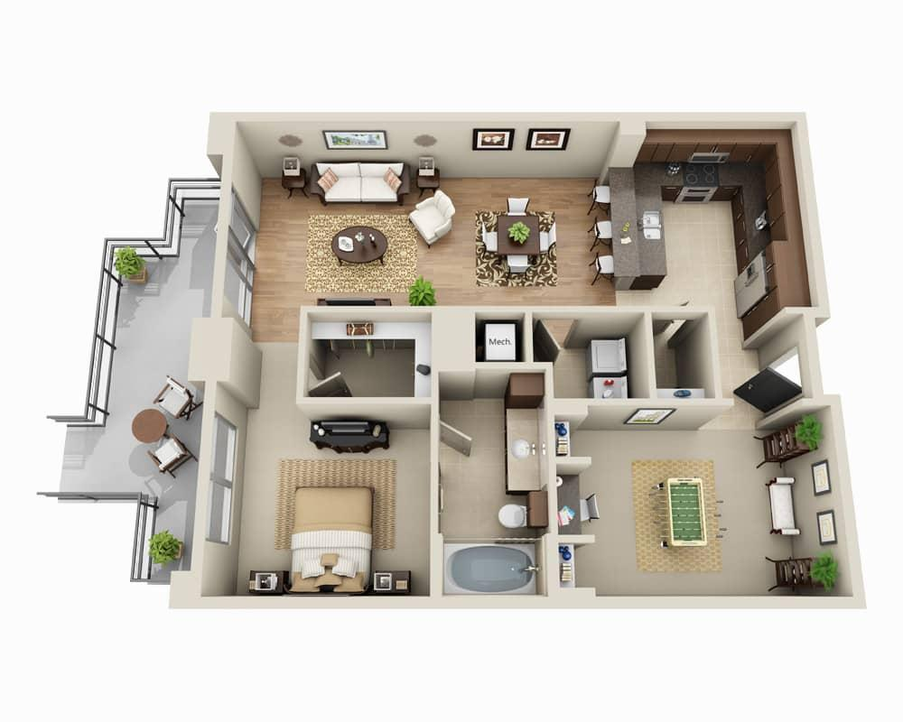 $2538 One bedroom Apartment for rent