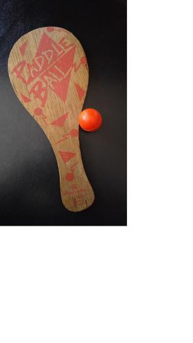VINTAGE 1990 IMPERIAL WOODEN PADDLE BALL