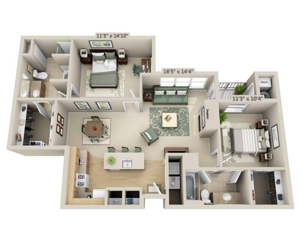 $2074 Two bedroom Apartment for rent
