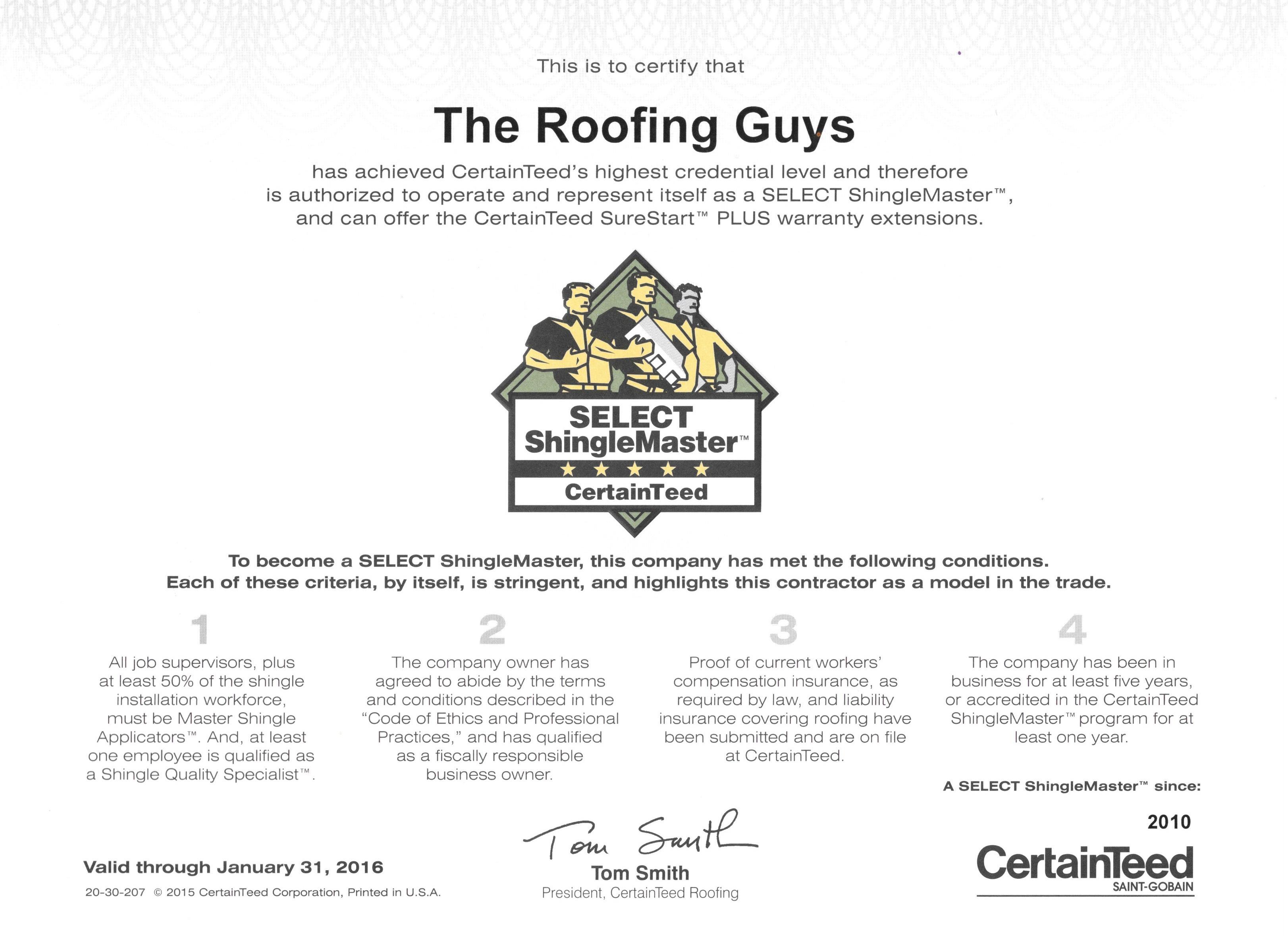 The Roofing Guys Inc
