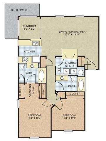 $1028 Two bedroom Apartment for rent