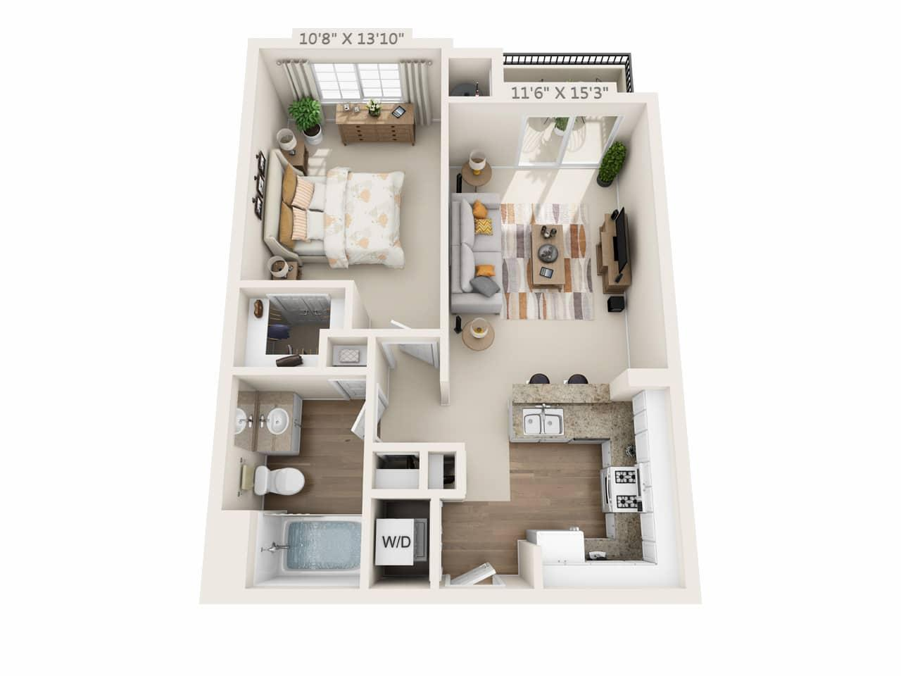 $2544 One bedroom Apartment for rent