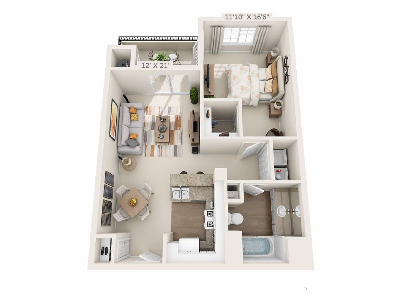 $2714 One bedroom Apartment for rent