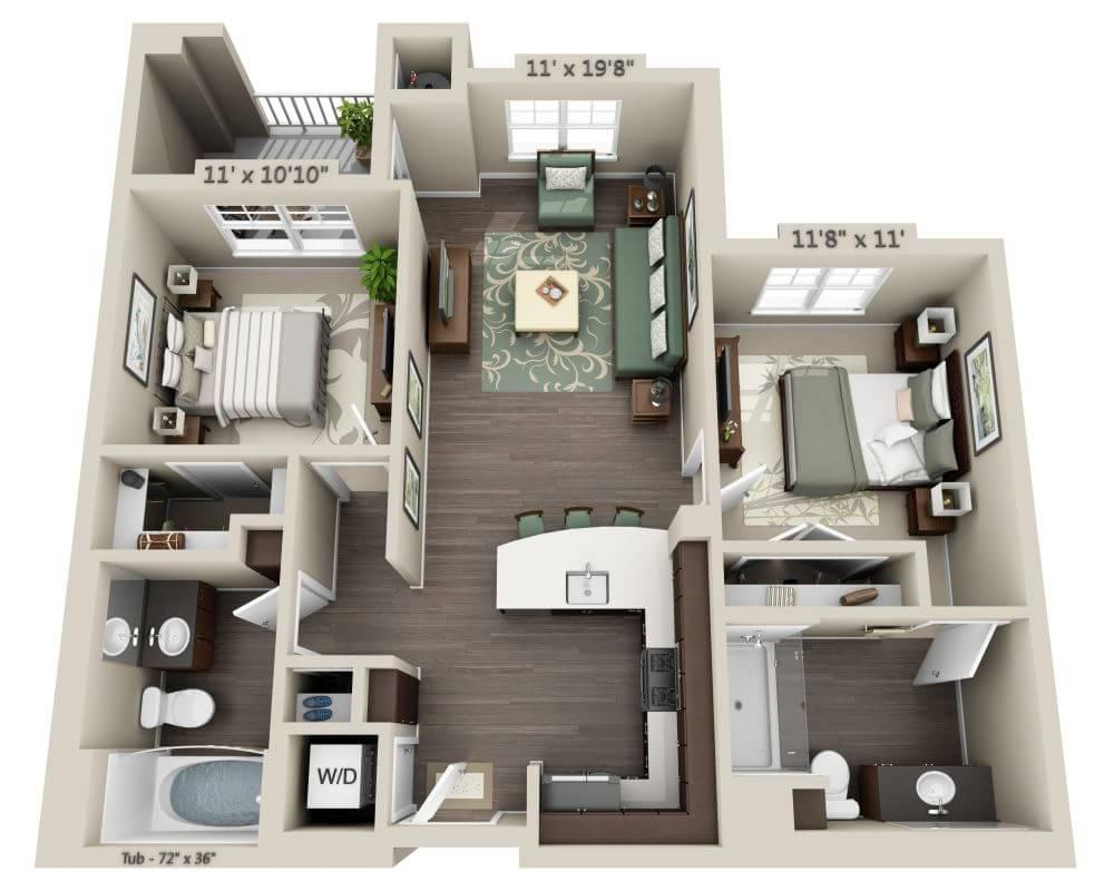 $2676 Two bedroom Apartment for rent