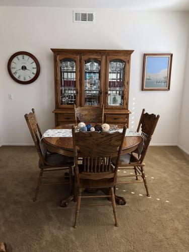 Oak Dining set and Hutch