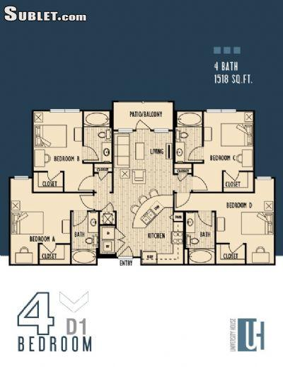 $590 Four bedroom Apartment for rent
