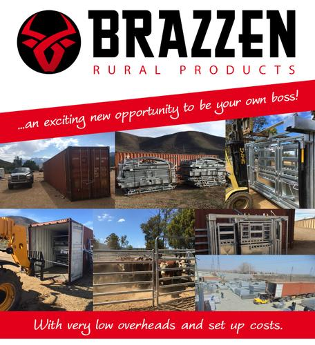 Galvanised Rural Product Distributors Wanted - Brazzen Exclusive Area Available