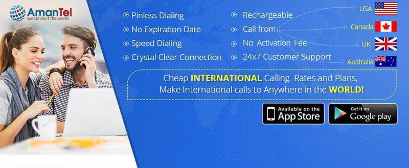 Amantel Cheap International Calling Plans from USA or  Canada