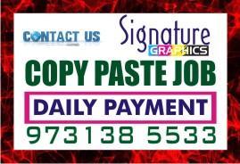 Ad Title / Heading  Daily Payment Online Copy paste Job Bangalore kamanahalli   jOBS