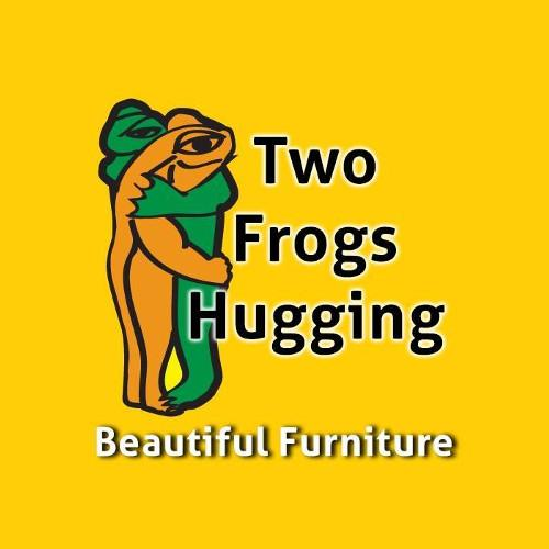 Two Frogs Hugging