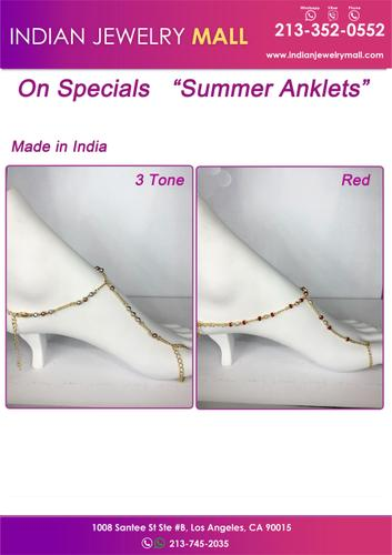 On Special Summer Anklets