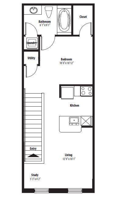 $898 Studio Apartment for rent