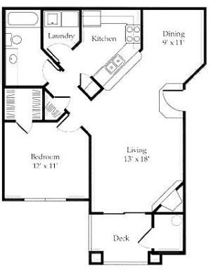 $854 One bedroom Apartment for rent