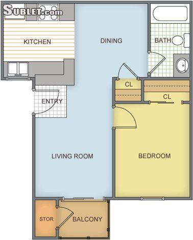 $1168 One bedroom Apartment for rent