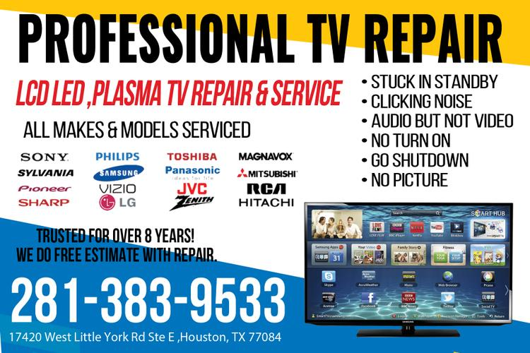 Service of repair and maintenance of televisions