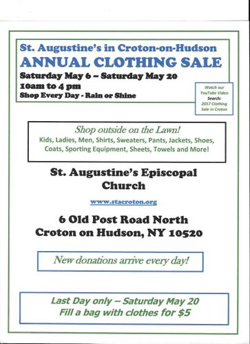 Annual Tent Rummage Sale St Augustine's Church