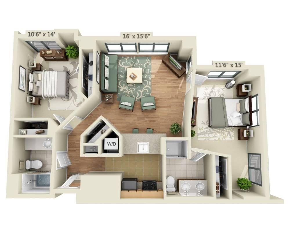 $2797 Two bedroom Apartment for rent