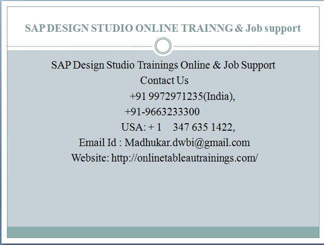 SAP BusinessObjects Design Studio training