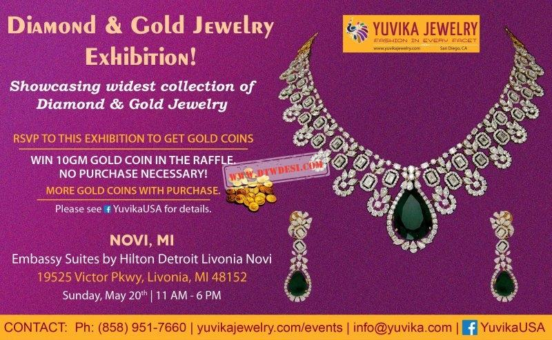 Diamond & Gold Jewelry Exhibition in Novi Mi.