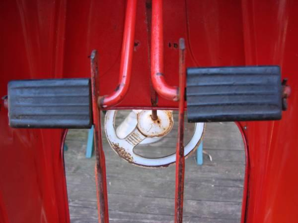 BUY ORIGINAL 1950's MURRARY SADFACE PEDAL FIRE TRUCK  NOW.