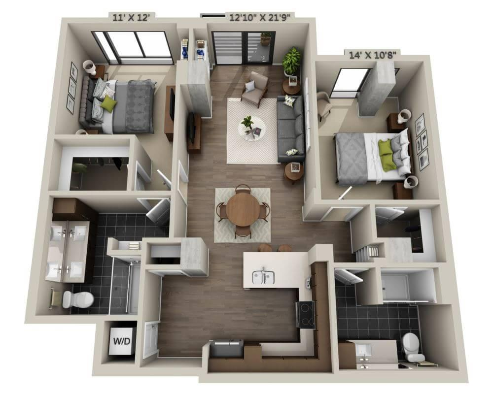 $4210 Two bedroom Apartment for rent