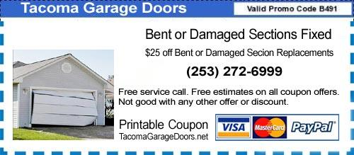 Tacoma Garage Doors Parts and Service Clopay Wagner Genie Western