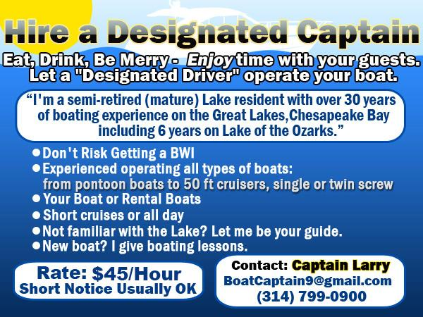 Hire an Experienced Captain.  Avoid A BWI.  (Lake of the Ozarks)
