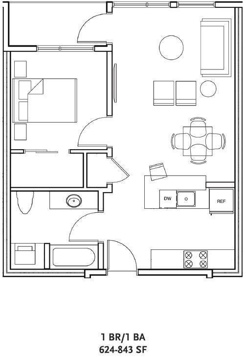 $1737 One bedroom Apartment for rent