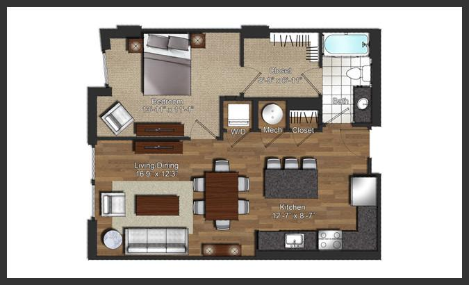 $1738 One bedroom Apartment for rent
