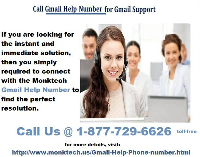 Gmail Toll Free Helpline Number 1-877-729-6626 to make your Gmail secure