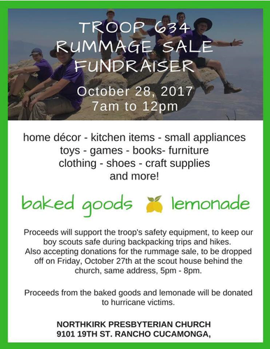 Boy Scout Troop Rummage Sale