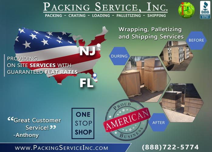 Packing Service, Inc. - Palletizing & Shrink Wrapping Furniture