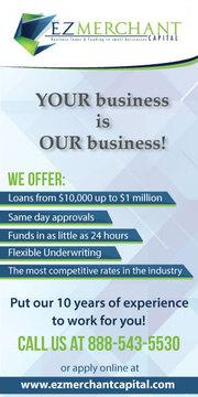 Business Loans-$10,000    -$1,000,000-    Fast, Easy, Affordable