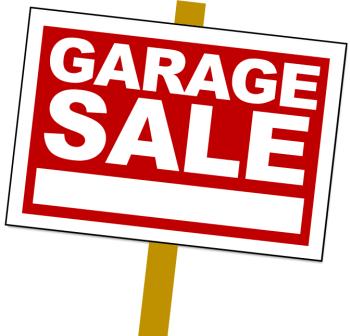 Multiple houses having garage sales