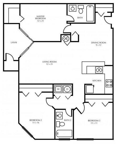 $1457 Three bedroom Apartment for rent