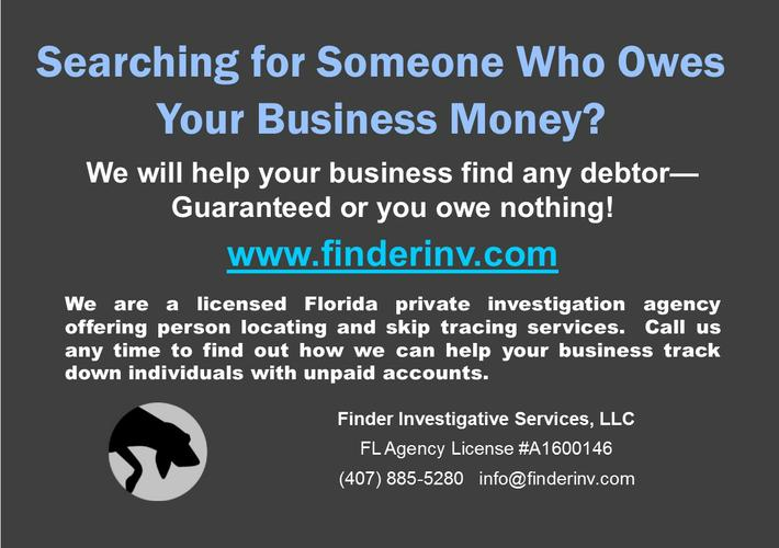 PERSON LOCATING AND SKIP TRACING SERVICES - GUARANTEED FIND