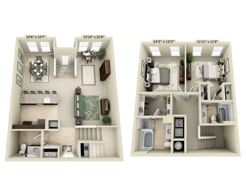 $3027 Two bedroom Apartment for rent