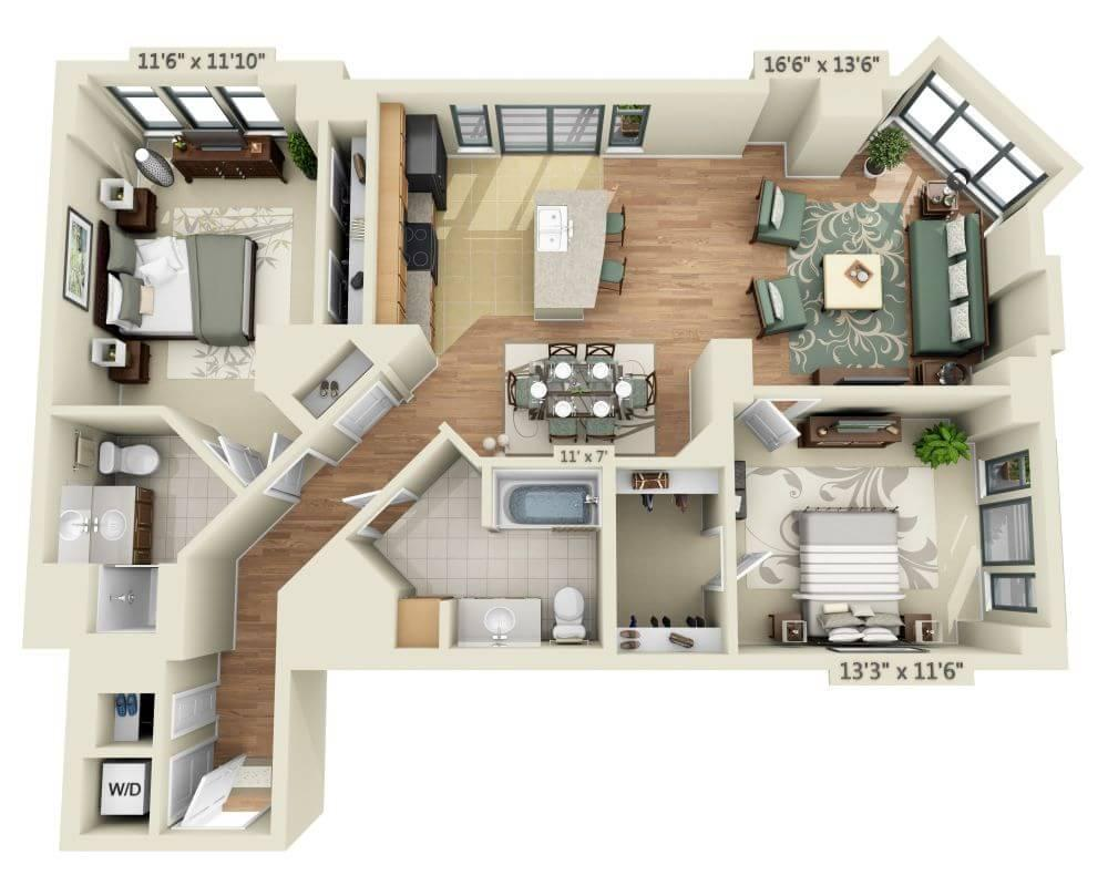 $2713 Two bedroom Apartment for rent