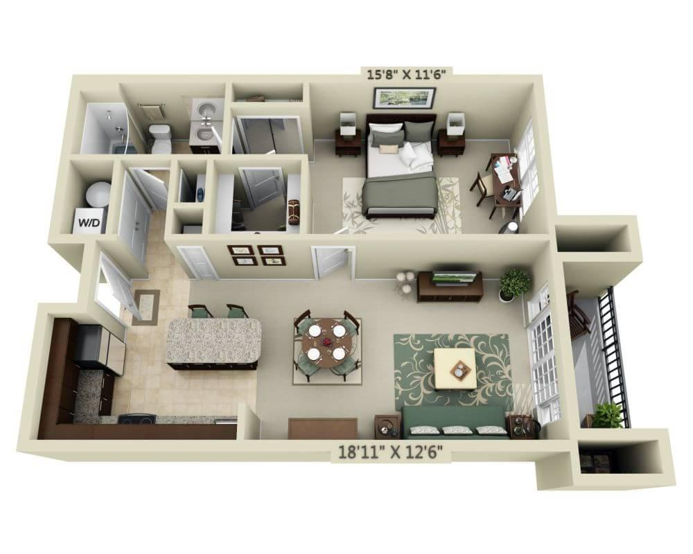 $1734 One bedroom Apartment for rent