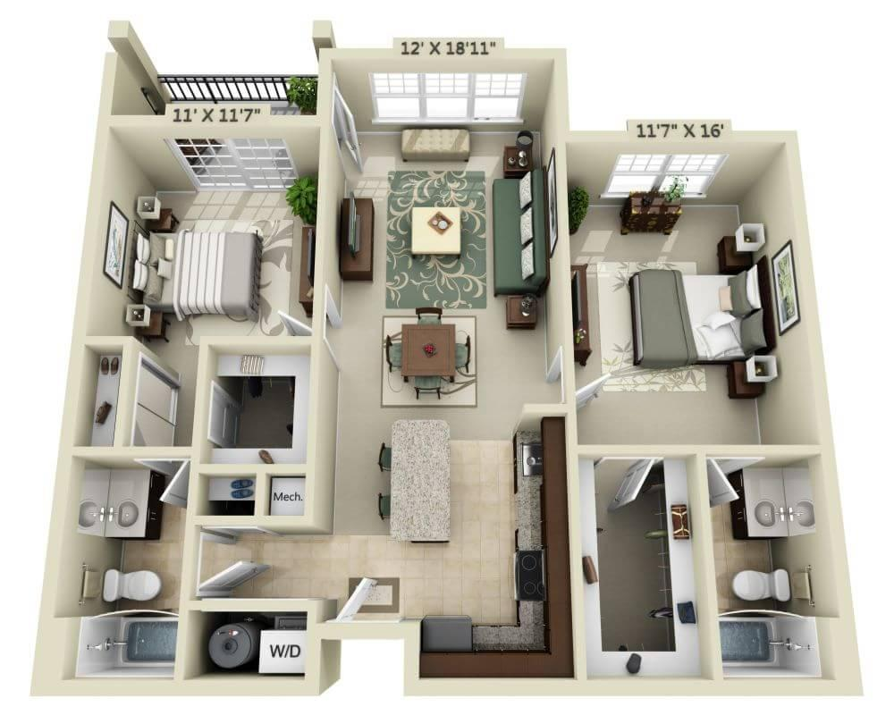 $2264 Two bedroom Apartment for rent