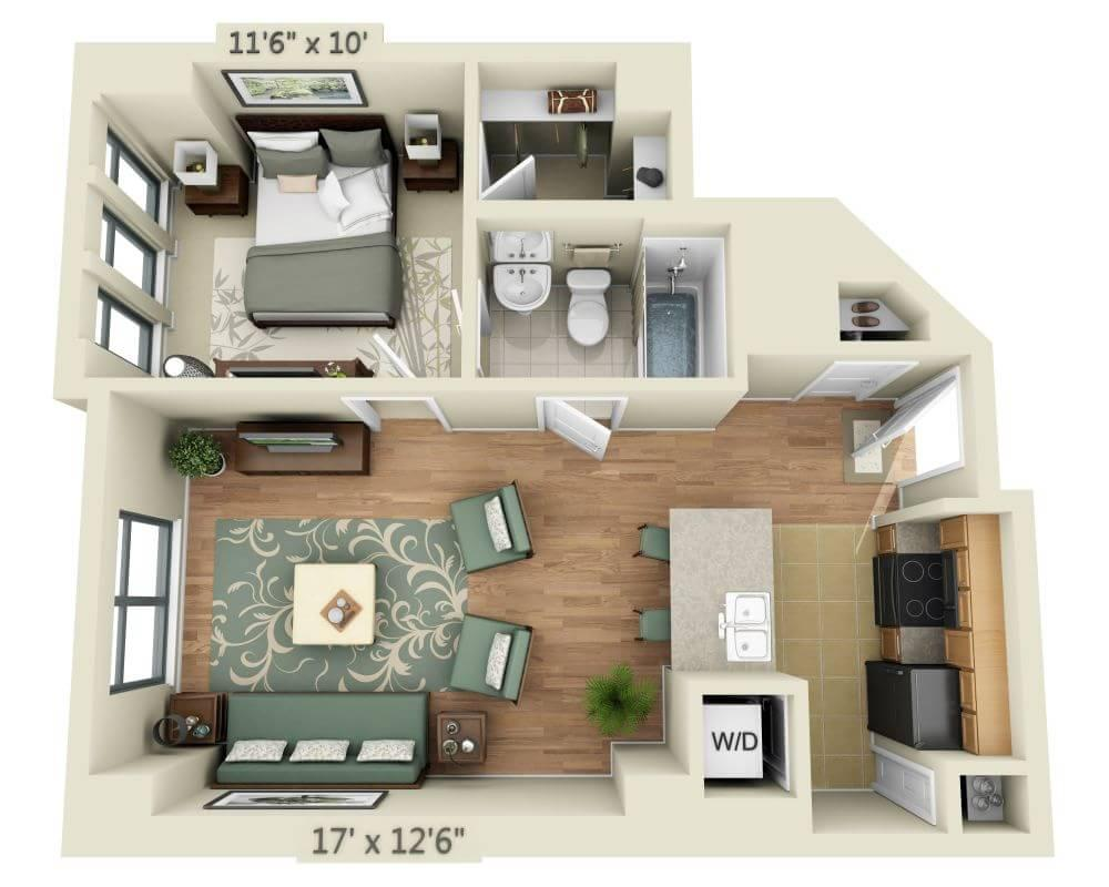 $2042 One bedroom Apartment for rent