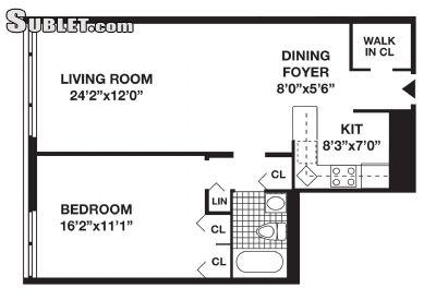 $3645 One bedroom Apartment for rent